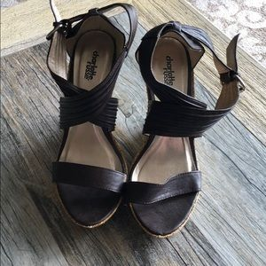 Brown strappy espadrilles 7.5 Charlotte Russe